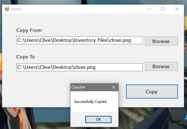 How to Copy a File using VB.Net