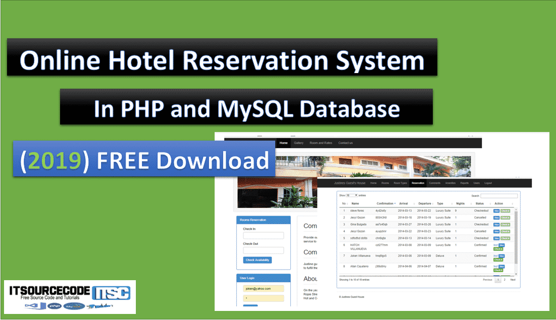 online hotel reservation system in php and mysql source code
