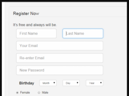 Registration Page Using PHP Source Code