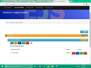 electronic judging system text-poll