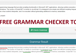 Free Grammar Checker tool result