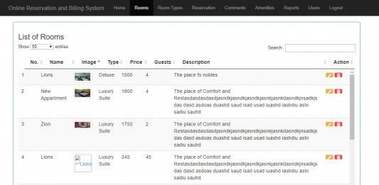 Free Hotel Reservation System Source Code Using PHP PDO