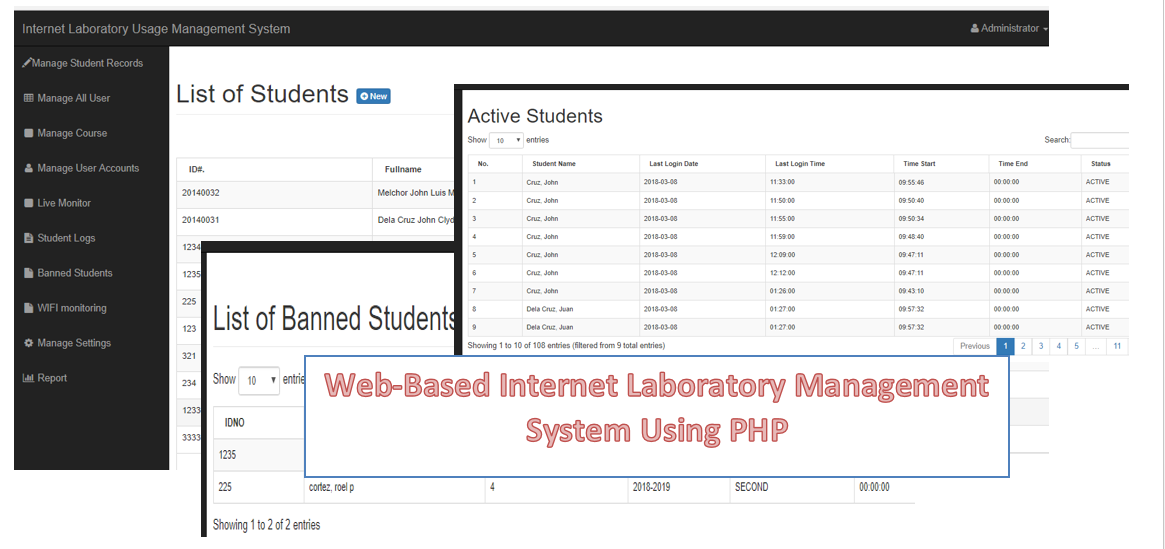 Web-Based Internet Laboratory Management System Using PHP