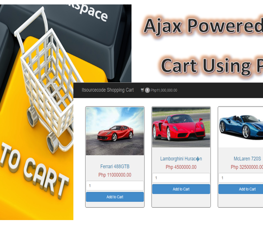 Ajax Shopping Cart PHP PDO
