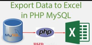Exporting data to excel in MySql using PHP