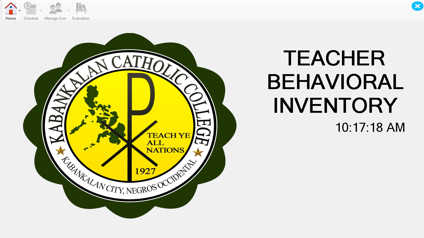 KCC Teachers Behavioral Inventory System Source Code Version 1