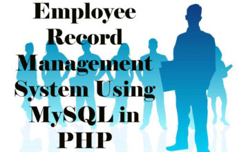 Employee Record Management System Using MySQL in PHP