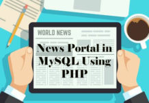 News Portal in MySQL Using PHP