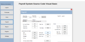 Payroll System Source Code Visual Basic