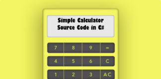Simple Calculator Source Code in C#