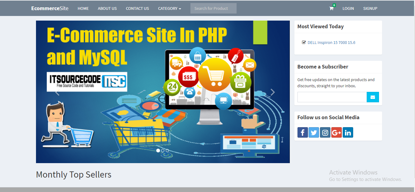 E Commerce Project In PHP With Source Code 2021