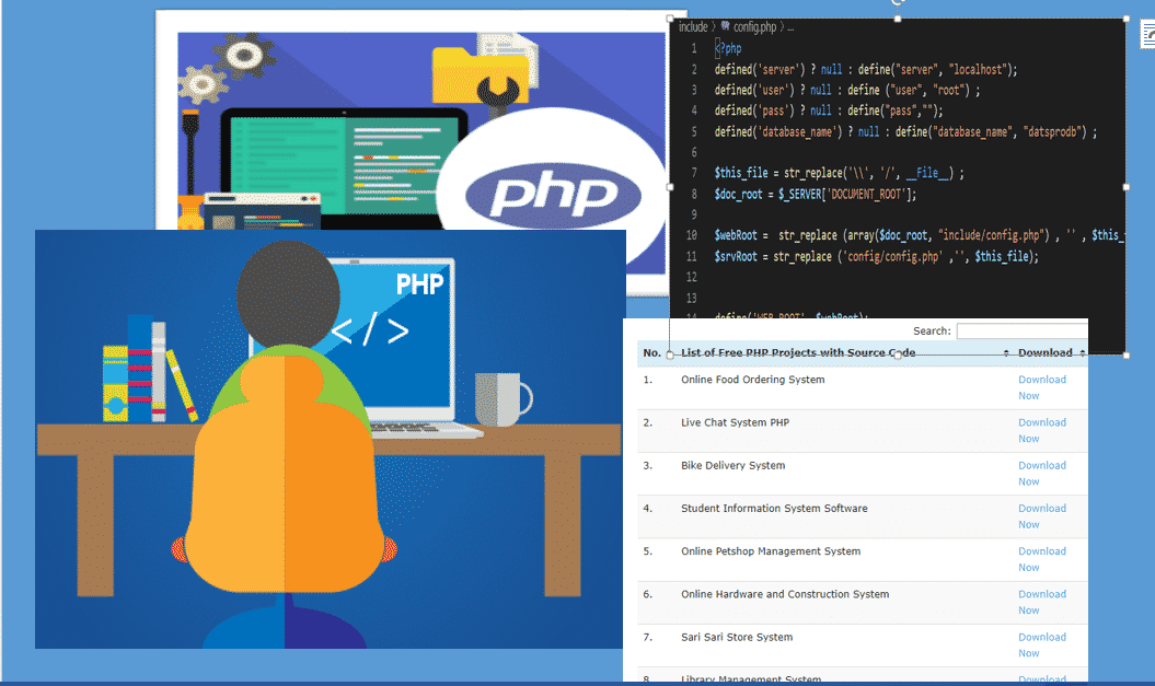 With code projects php source PHP projects