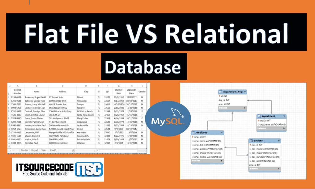 flat file vs relational database