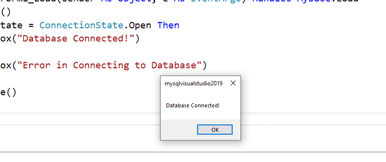 database connected