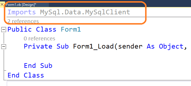 imports mysql.data.mysqlclient to visual studio 2019