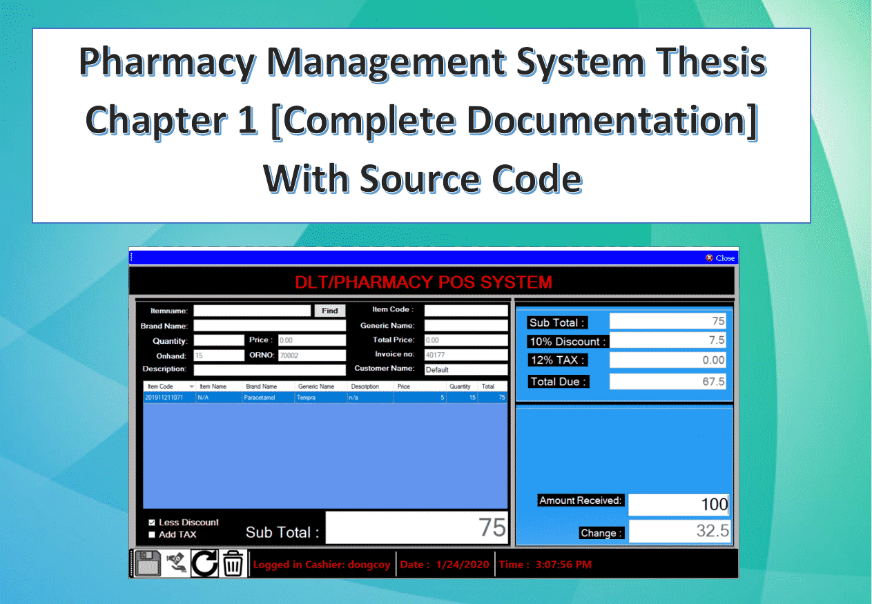 Pharmacy management System Thesis Chapter 1