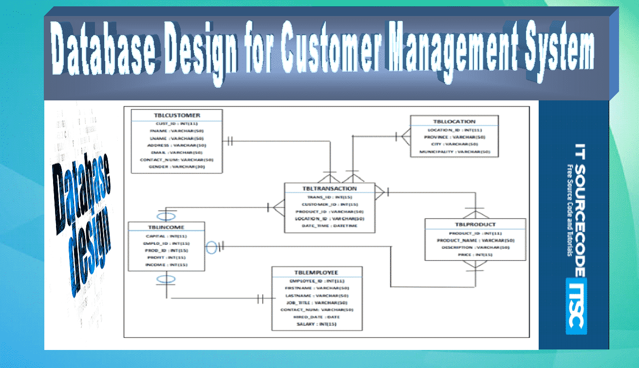 Database Design for Customer Management System