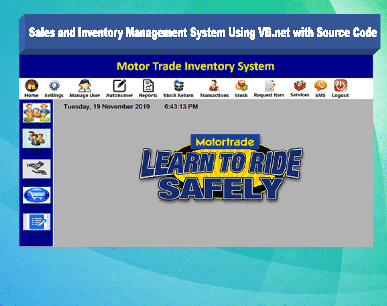 Sales and Inventory Management System Project in VB.Net Source Code