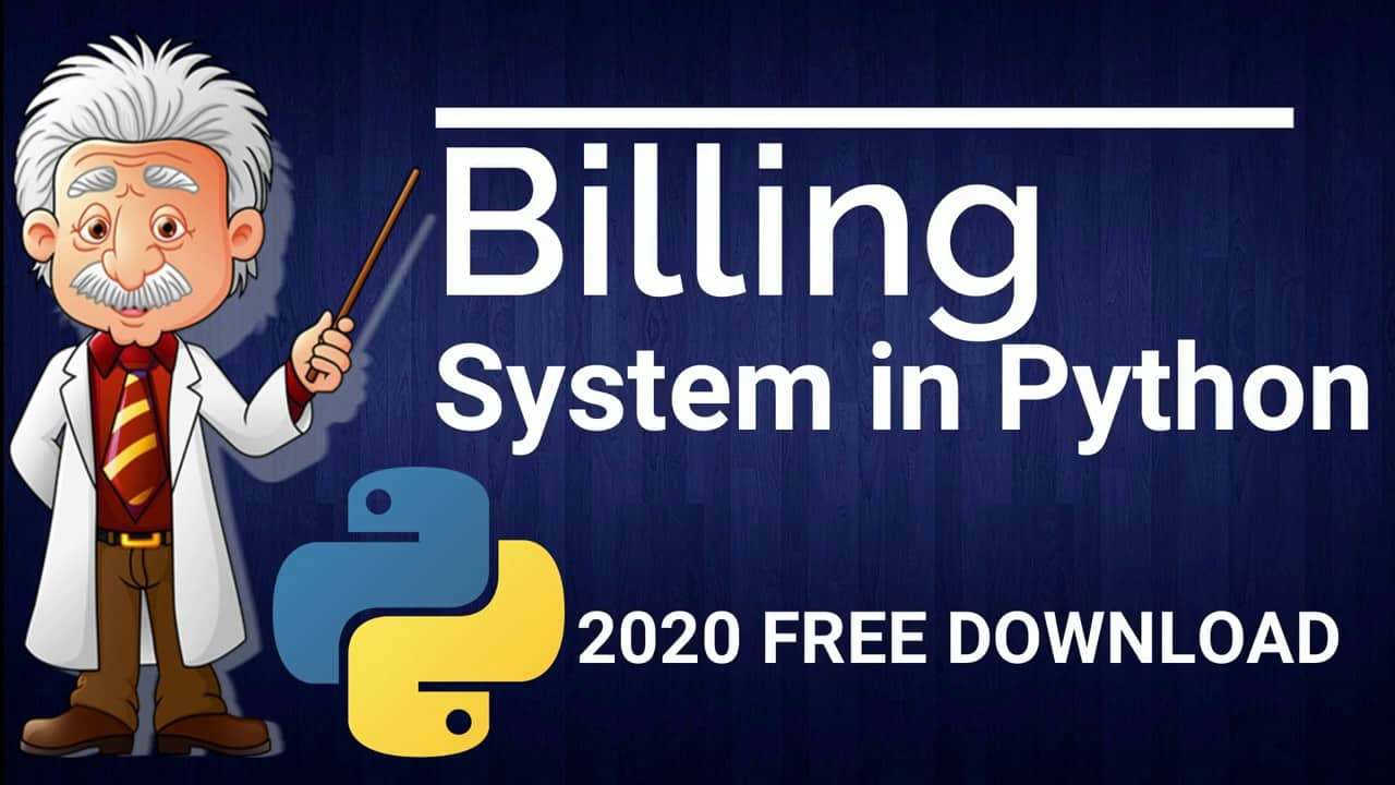 Billing System Project in Python Project With Source Code