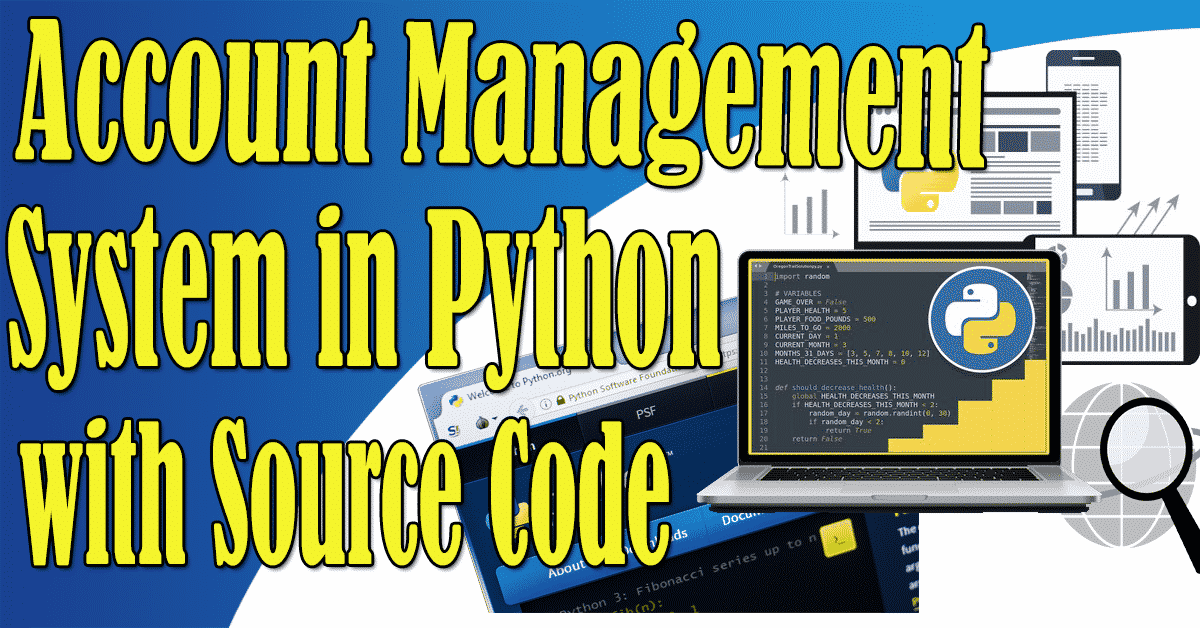 Account Management System in Python with Source Code