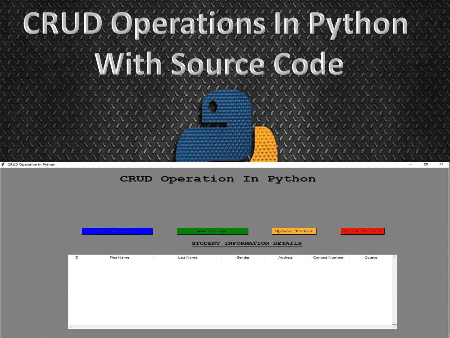 CRUD_Operations_In_Python_With_Source_Code_2020