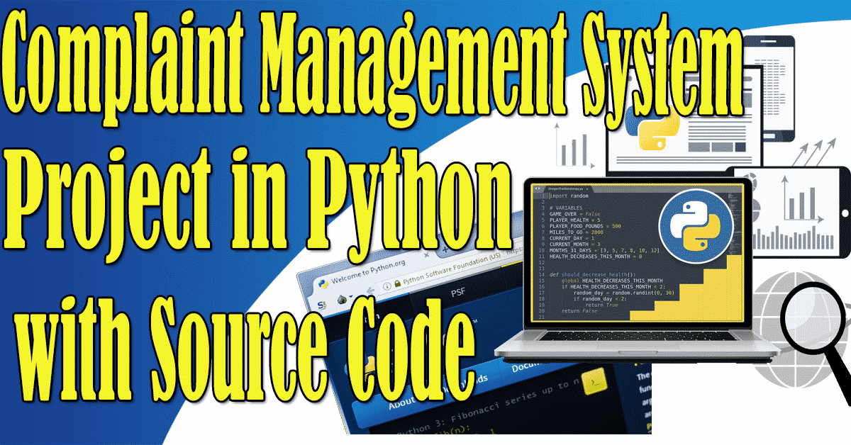 Complaint Management System Project in Python with Source Code
