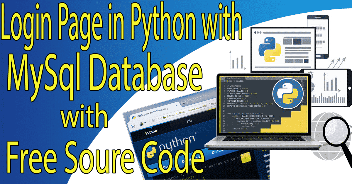 Login Page in Python with MySql Database with Source Code