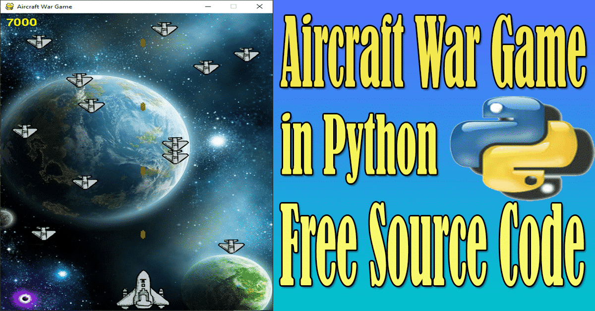 Aircraft War Game in Python with Source Code