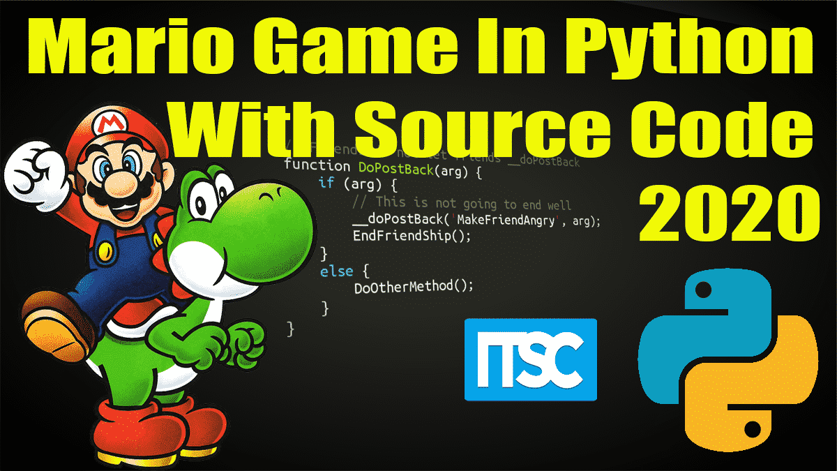 Mario Game Program In Python With Source Code
