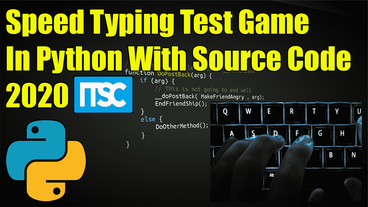 Speed Typing Test Python Project