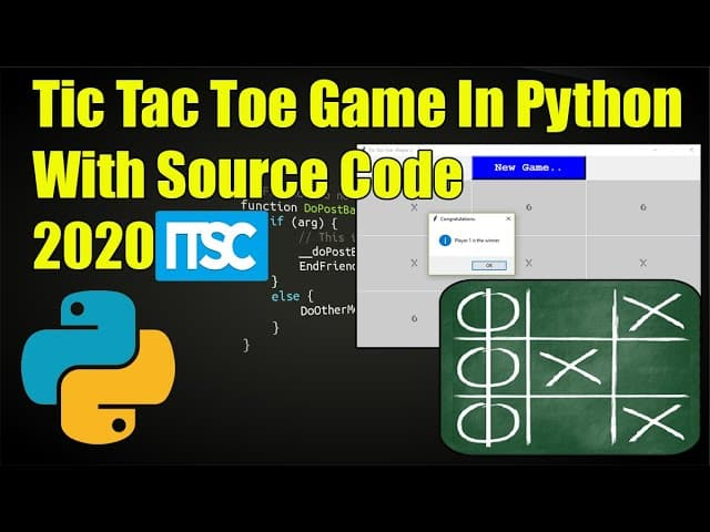 Tic Tac Toe Python Game Projects with Source Code