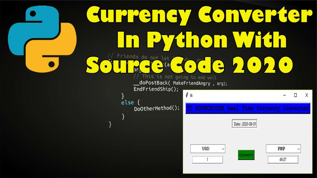 currency converter in python with source code