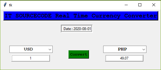 currency converter output