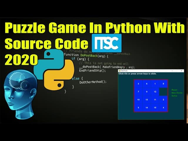 Code for Game in Python for Puzzle Game