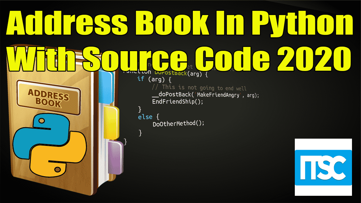 Address Book In Python