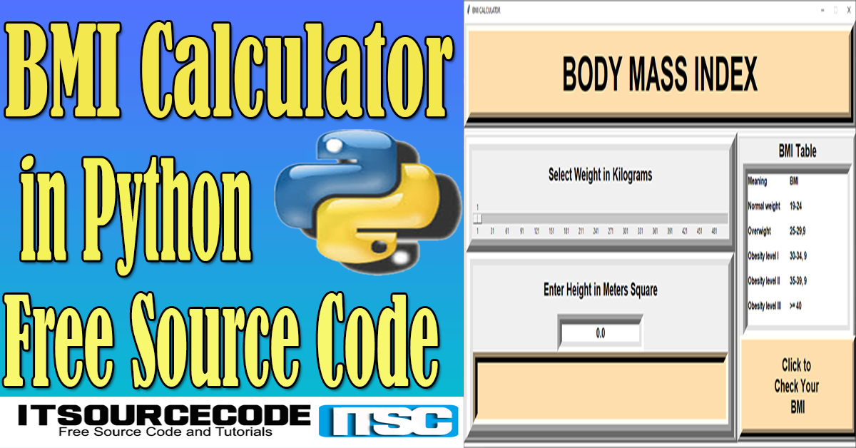BMI Calculator in Python with Source Code