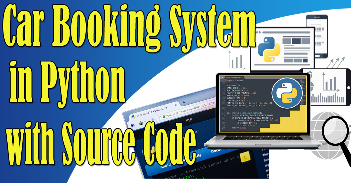 Car Booking System in Python with Source Code