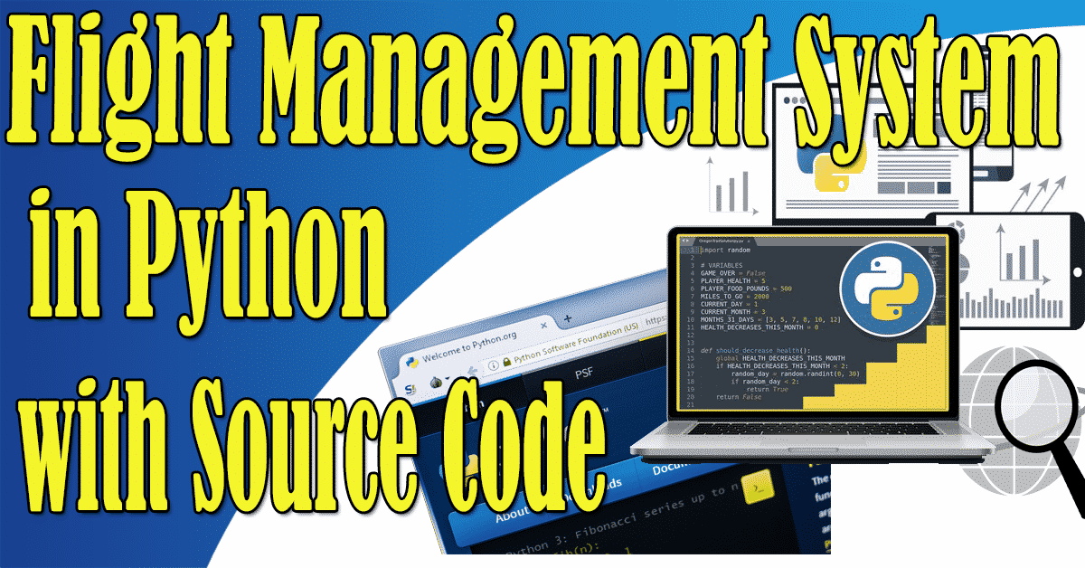 Flight Management System in Python with Source Code