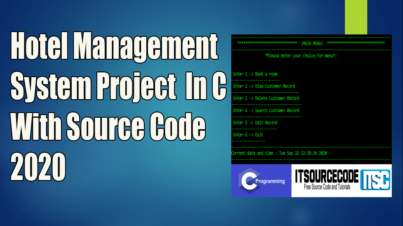 Hotel Management System Project In C With Source Code