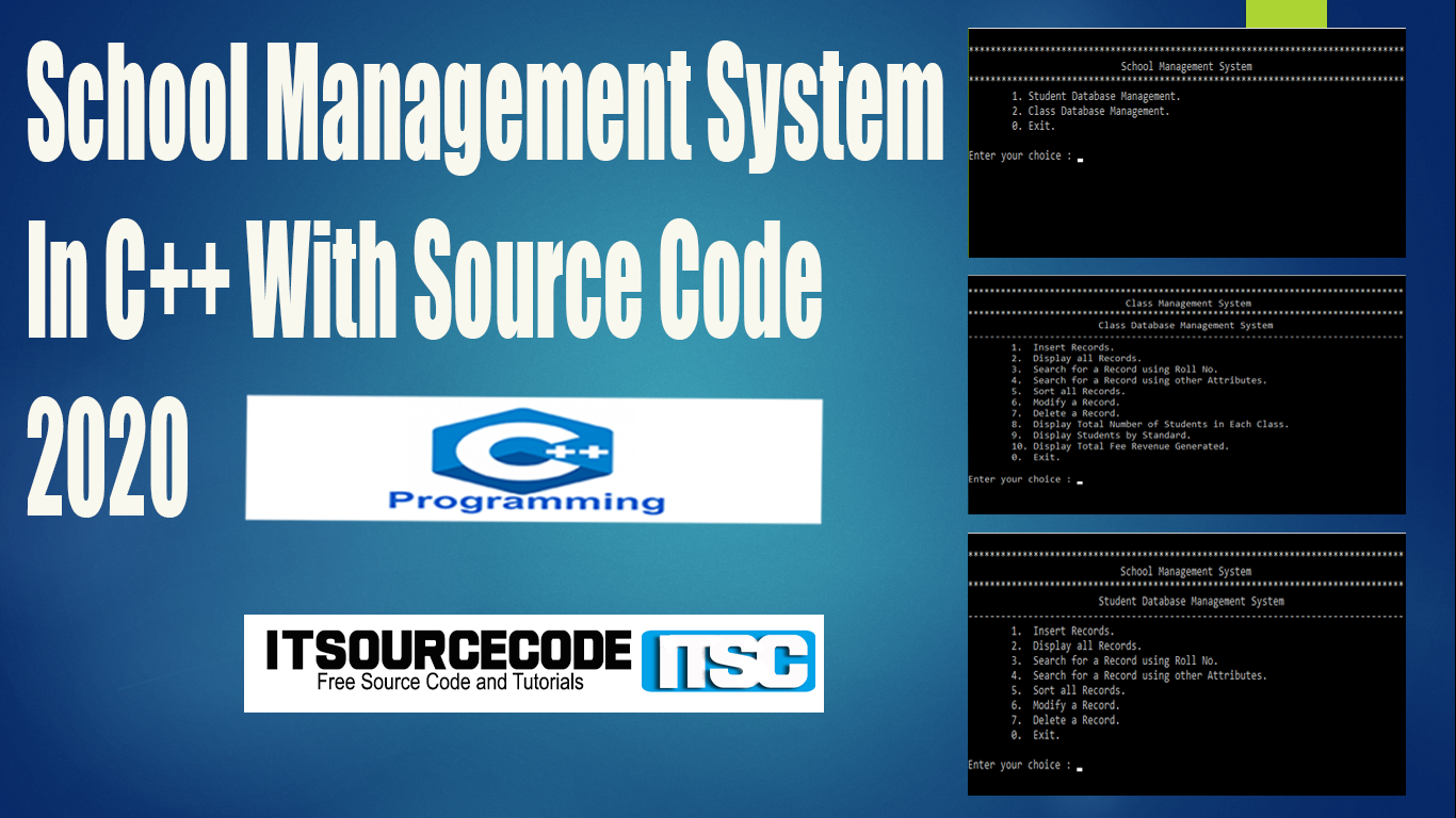 School Management System In C++