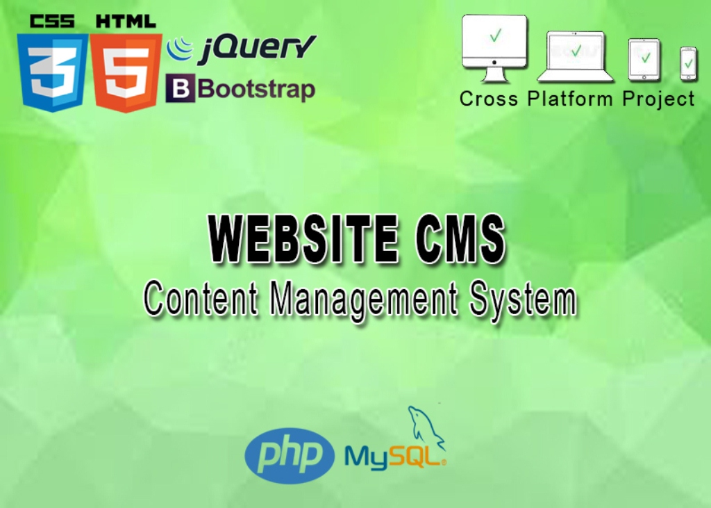 Website CMS in PHP Free Source Code Iamge