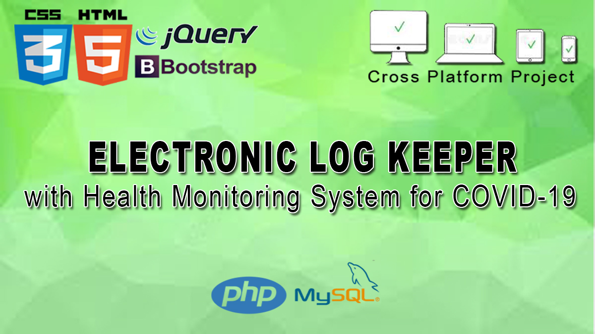 E-Logbook with Health Monitoring System for COVID-19 Image