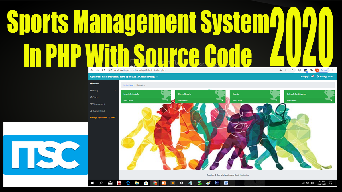 sports management system project in php download