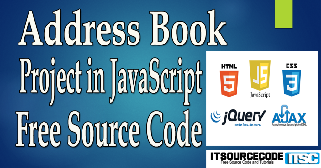 Address Book Project in JavaScript with Source Code