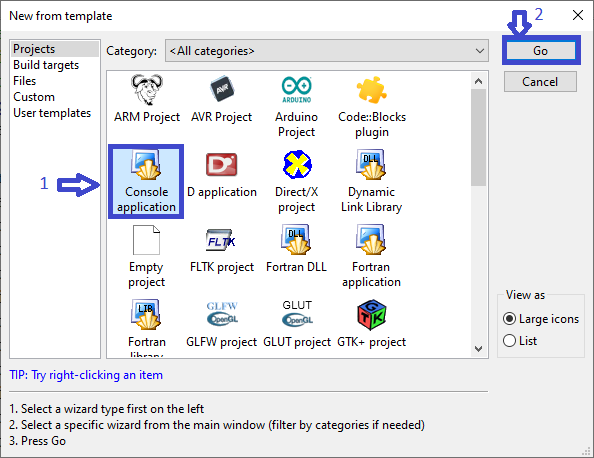 Click Create New Project in Clinic Management System in C++ with Source Code