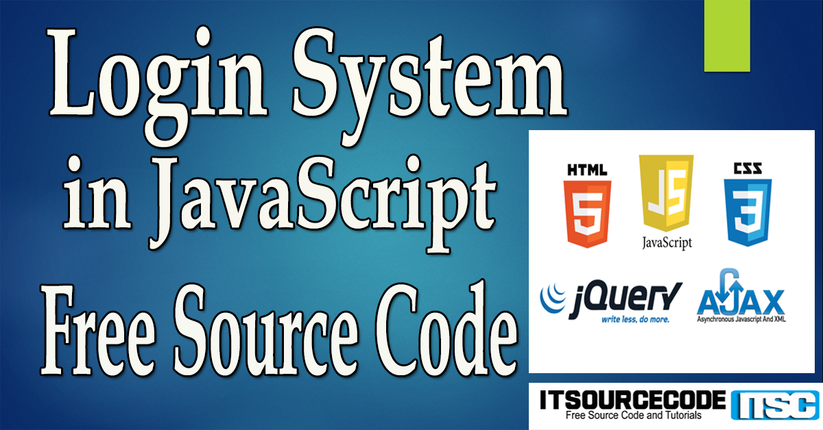Login System in JavaScript with Source Code