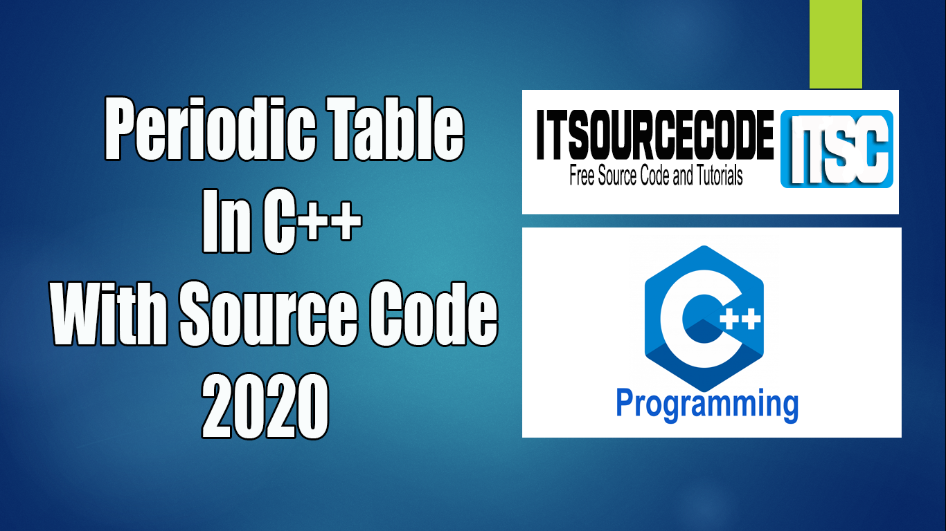 Periodic Table In C++