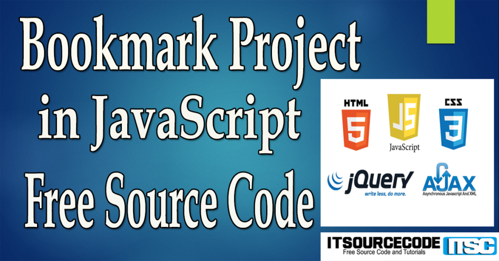Bookmark Project in JavaScript with Source Code
