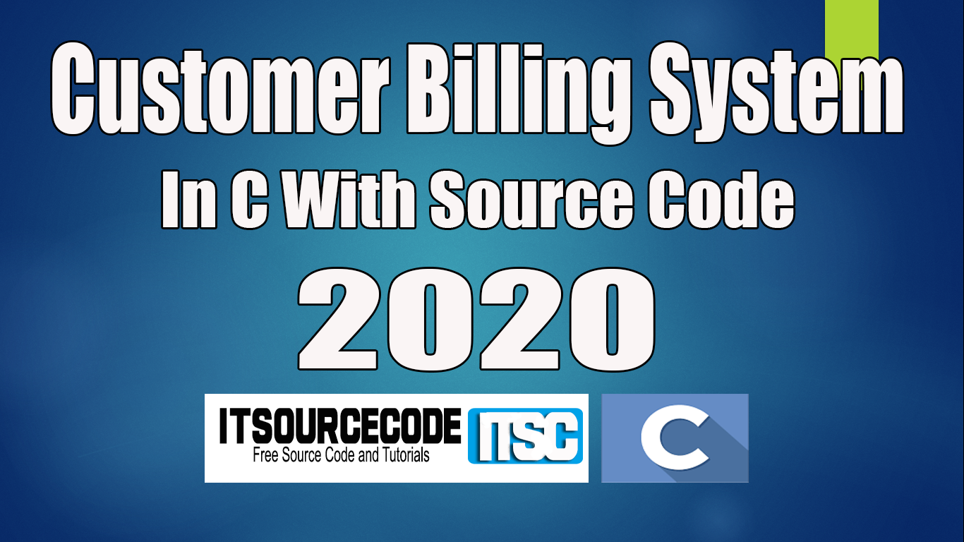 Customer Billing System C Project