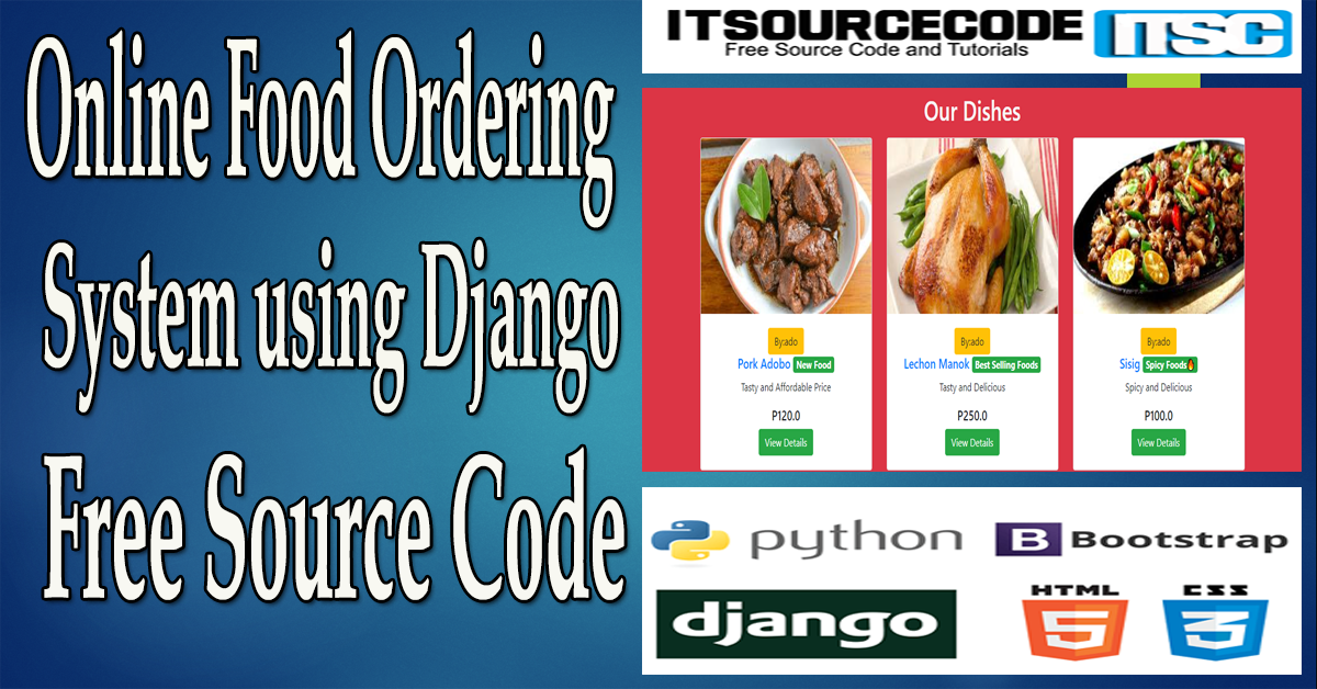 Online Food Ordering System using Django with Source Code